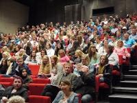 Elever på Nord-Gudbrandsdal vgs i plenum 1