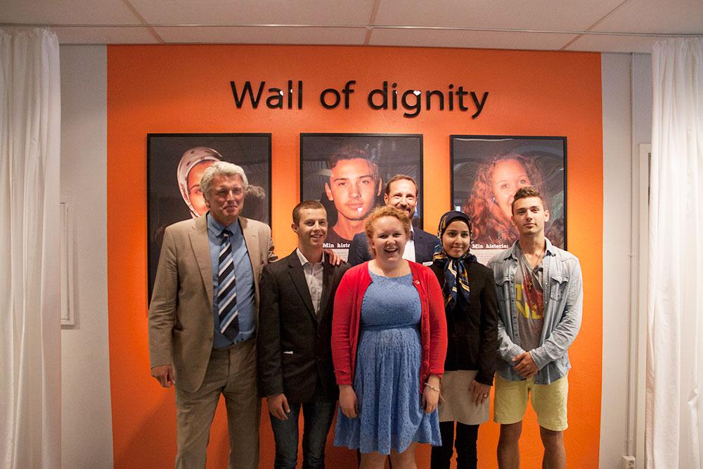 Wall of Dignity på Bleiker vgs.
