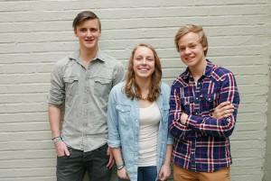 Kim, Berit og Jens Henrik fra Risør vgs